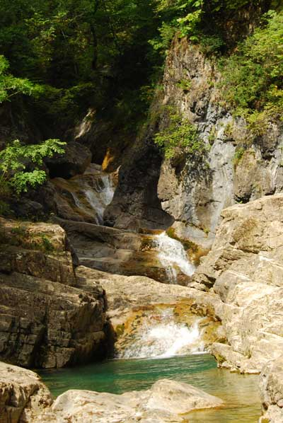 Río Yaga en Escuaín - Ordesa. Miradores de Revilla. Escuaín. Quebrantahuesos. Naturaleza. Montaña. Senderismo. Eco turismo. O Chardinet d'a formiga casa turismo rural sostenible.